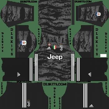 Juventus Goalkeeper Home Kit 2019-2020 - DLS 19 Kits - Dream League Soccer