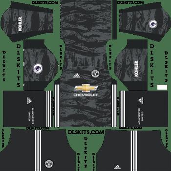 Dream League Soccer Kits Manchester United Goalkeeper Away Kit 2019-20