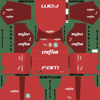 Palmeiras Goalkeeper Away Kit 2019 - DLS 19 Kits - Dream League Soccer Kits URL 512x512