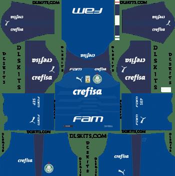 Palmeiras Goalkeeper Home Kit 2019 - DLS 19 Kits - Dream League Soccer Kits URL 512x512