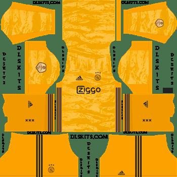 Dream League Soccer Kits AFC Ajax Goalkeeper Home Kit 2019-20