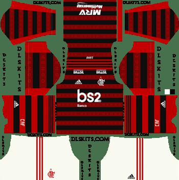 Adidas Flamengo Home Kits 2019-20 - Dream League Soccer Kits URL
