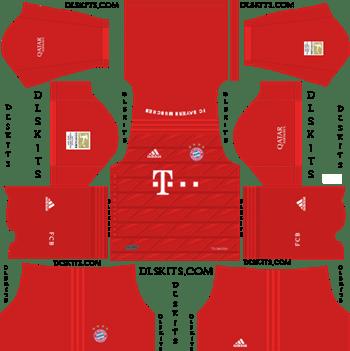 Dream League Soccer Kits Bayern Munich 2019-2020 Home Kit