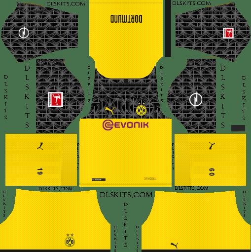 Borussia Dortmund Third Kit 2019-20 Dream League Soccer Kits