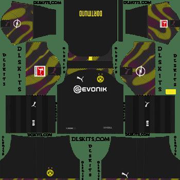 Dream League Soccer Kits Borussia Dortmund Goalkeeper Away Kit 2019-20