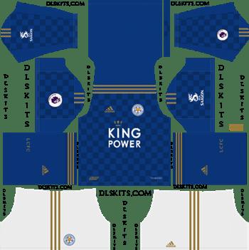 Dream League Soccer Kits Leicester City 2019-2020 Home Kit