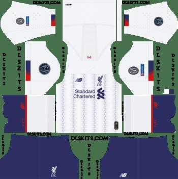 Liverpool Away Champions League 2019-20 - DLS 19 Kits - Dream League Soccer Kits