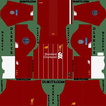 Liverpool Home Champions League 2019-20 - DLS 19 Kits - Dream League Soccer Kits
