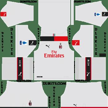 Dream League Soccer Kits AC Milan Away Kit 2019-20