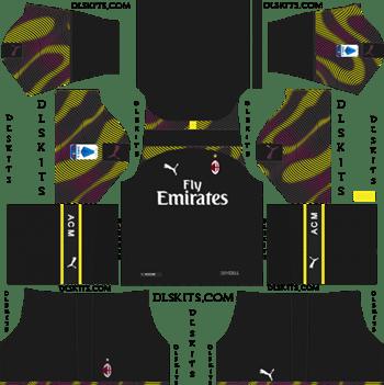 Dream League Soccer Kits AC Milan Goalkeeper Away Kit 2019-20
