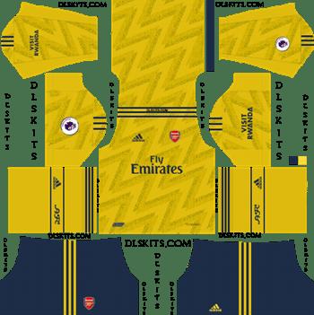 Dream League Soccer Kits Arsenal Away Kit 2019-20