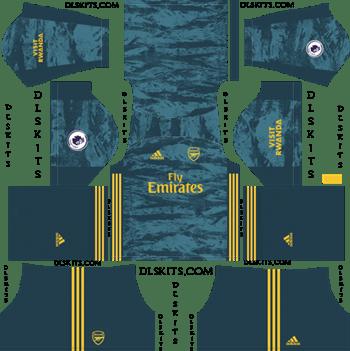 Dream League Soccer Kits Arsenal Goalkeeper Home Kit 2019-2020