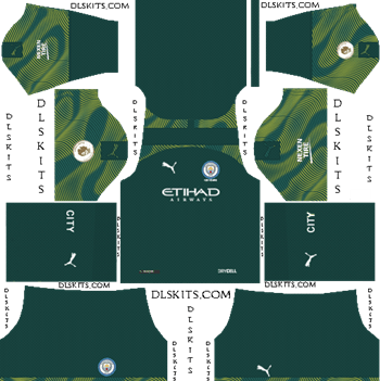 Dream League Soccer Kits Manchester City Goalkeeper Home Kit 2019-20