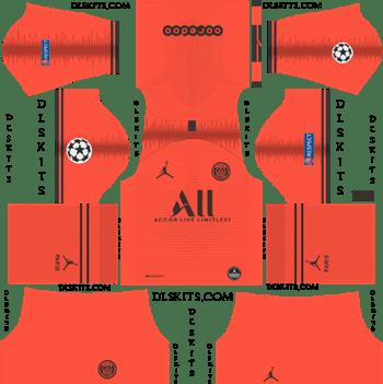 Dream League Soccer Kits PSG Away Kit 2019-20