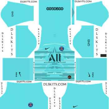 Dream League Soccer Kits PSG Goalkeeper Away Kit 2019-20