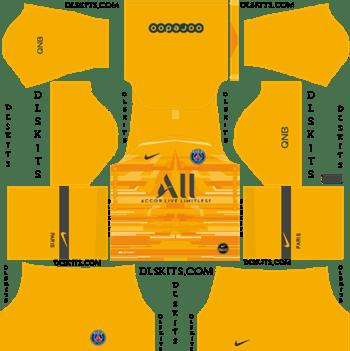 Dream League Soccer Kits PSG Goalkeeper Home Kit 2019-20