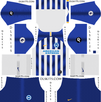 Dream League Soccer Kits Brighton FC Home Kit 2019-20