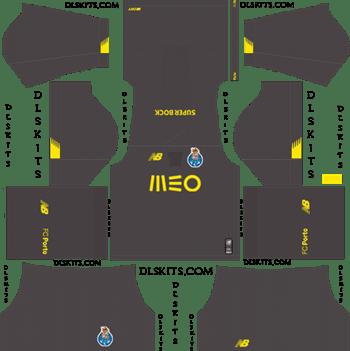 Dream League Soccer Kits FC Porto Goalkeeper Home Kit 2019-20