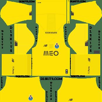Dream League Soccer Kits FC Porto Goalkeeper Third Kit 2019-20