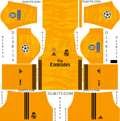 UCL Real Madrid Goalkeeper Home Kit 2019-20 Dream League Soccer Kits