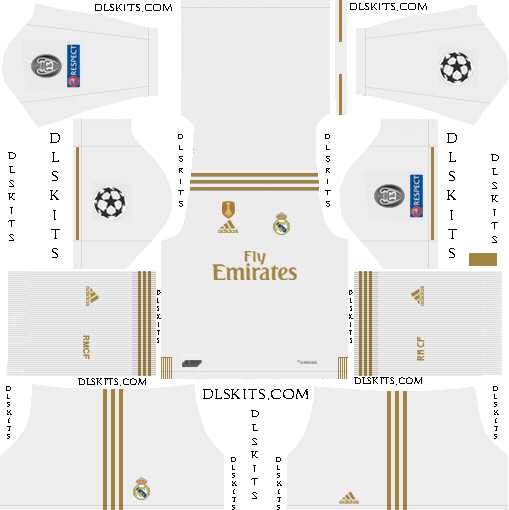 UCL Real Madrid Home Kit 2019-20 Dream League Soccer Kits