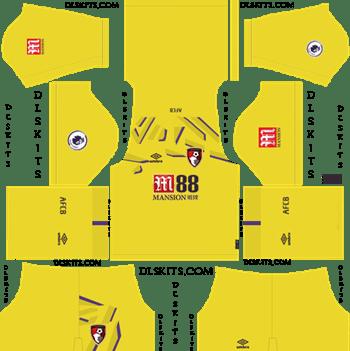 Dream League Soccer Kits AFC Bournemouth Goalkeeper Home Kit 2019