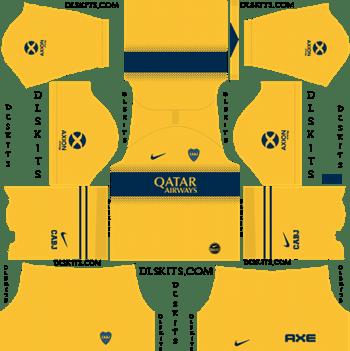Dream League Soccer Kits Boca Juniors Away Kit 2019-2020