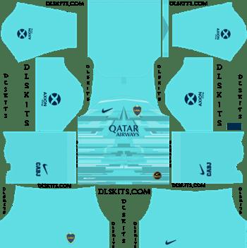 Dream League Soccer Kits Boca Juniors Goalkeeper Away Kit 2019-2020