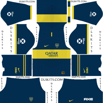 Dream League Soccer Kits Boca Juniors Home Kit 2019-2020