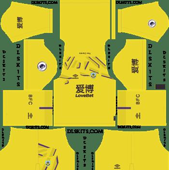Dream League Soccer Kits Burnley FC Goalkeeper Away Kit 2019-20