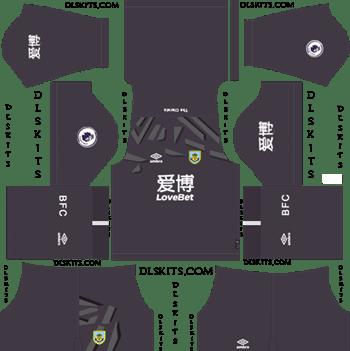 Dream League Soccer Kits Burnley FC Goalkeeper Home Kit 2019-20