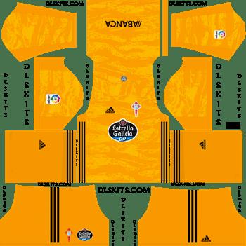 Celta Vigo Goalkeeper Home Kit 2019-20 Dream League Soccer Kits