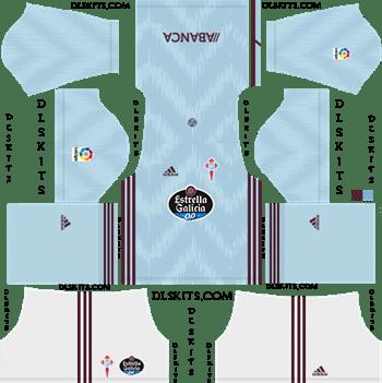 Celta Vigo Home Kit 2019-20 Dream League Soccer Kits