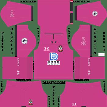 Southampton FC Goalkeeper Away Kit 2019-2020 Dream League Soccer Kits