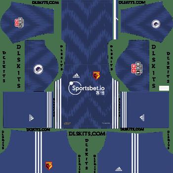 Dream League Soccer Kits Watford FC Away Kit 2019-2020