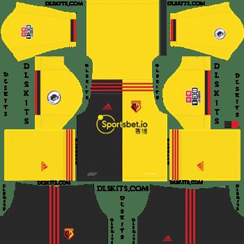 Dream League Soccer Kits Watford FC Home Kit 2019-2020