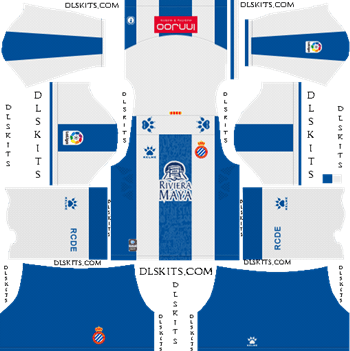 Espanyol Home Kit 2019-2020 Dream League Soccer Kits