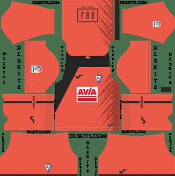 SD Eibar Goalkeeper Home Kit 2019 Dream League Soccer Kits