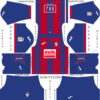 SD Eibar Home Kit 2019 Dream League Soccer Kits
