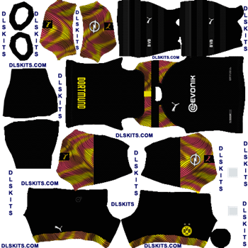 Borussia Dortmund 2020 Goalkeeper Away Dream League Soccer Kits