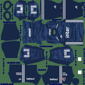 Sao Paulo FC Goalkeeper Away 2020 Dream League Soccer Kits