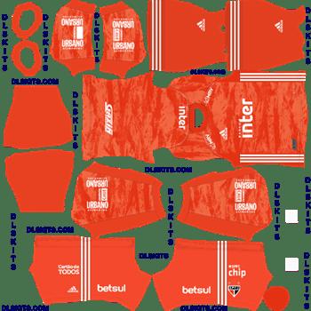 Sao Paulo FC Goalkeeper Home 2020 Dream League Soccer Kits
