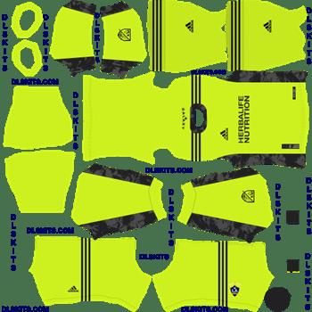 LA Galaxy 2020 Goalkeeper Away Dream League Soccer Kits