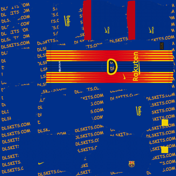 Barcelona Fourth Dream League Soccer Kits 2020 - DLS 20 Kits