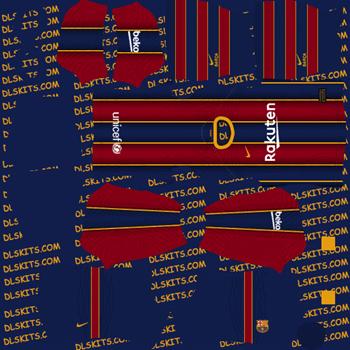 Barcelona Home Dream League Soccer Kits 2020 - DLS 20 Kits