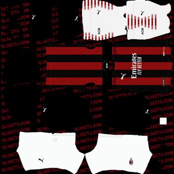 AC Milan Home Kit 2020 - Dream League Soccer Kits - DLS 20 Kits