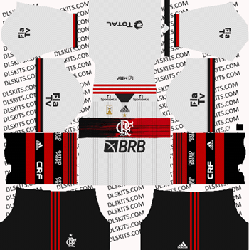 Flamengo FC Away Kit 2021 for DLS 2019