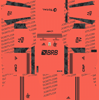 Flamengo FC Goalkeeper Away Kit 2021 for DLS 2019