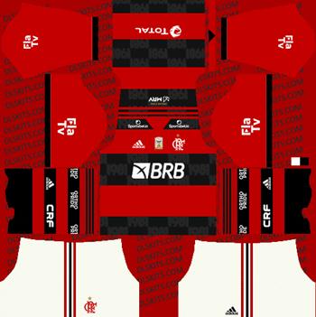 Flamengo 2021 Dream League Soccer Kits for DLS 2019